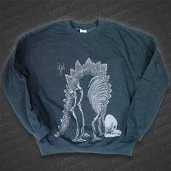 Dino Dark Heather Crewneck