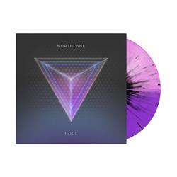 Node Half Baby Pink/Half Deep Purple W/Black Splatter Vinyl LP