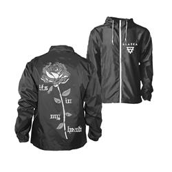 Rose Black/White Windbreaker