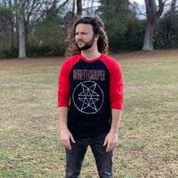 Double Pentagram Red/Black Raglan