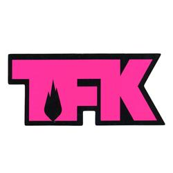 TFK Die Cut Pink On Black