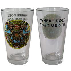 Where Does The Time Go?  Pint Glass