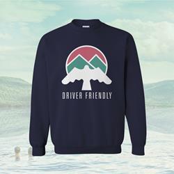 Bird Logo Navy Blue Crew Neck Sweatshirt