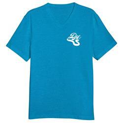 Snake Logo Turquoise V-Neck