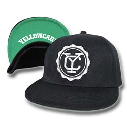 Yellowcard - Logo Black/Green Brim Snapback