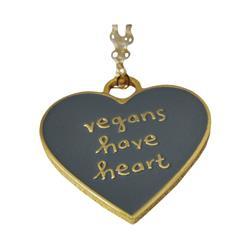 Vegan's Heart Gold / Grey Necklace