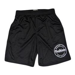 Born To Be Free Black Mesh Shorts