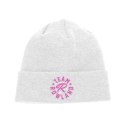 Pink Logo White Beanie