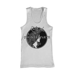 Antlers White Tank Top