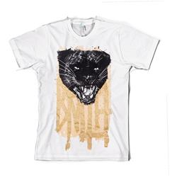The Pimped Panther W/ Gold Glitter White