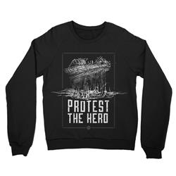 Floating Ship Black Crewneck X-Large