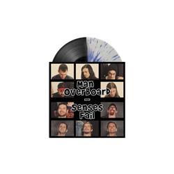 Split Half Black/Half Clear W/Blue Splatter 7 Inch LP