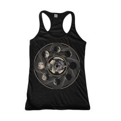 Girl's Moon Black Racer Back Tank