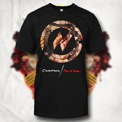 Full Of War Circle Black T-Shirt