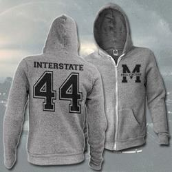 Varsity Heather Grey Zip-Up