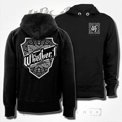 Crest Black Hooded Pullover