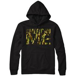 Camo Logo Black Hooded