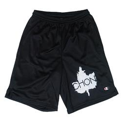 Leaf Black Mesh Shorts