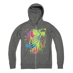Rain Splat  Grey Zip Hood
