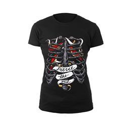Bird Cage Black Girl's T-Shirt