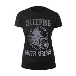 Motorcycle Chain Gang Black Girl's T-Shirt