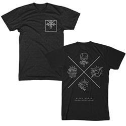 X Emblem Charcoal Black