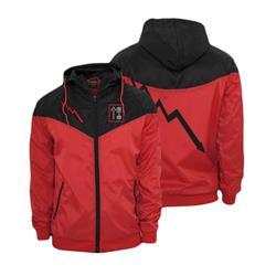 Bolt Red/Black Custom Windbreaker