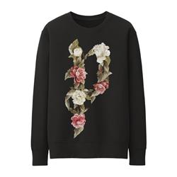 Floral Muse Black Crewneck