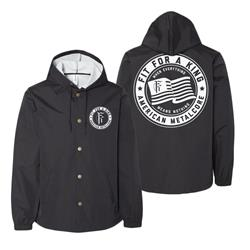 American Metalcore Black Windbreaker