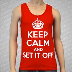 Keep Calm &  Red Tank Top