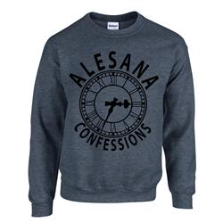 Clock Grey Crewneck Sweatshirt