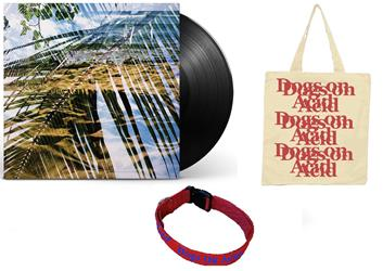 Dogs On Acid Black Vinyl + Dog Collar + Tote