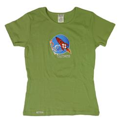 Blast Off! Green Womens T-Shirt