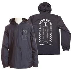 Midnight Society Black Windbreaker