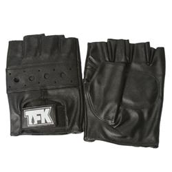 TFK Outline Logo Black Fingerless Gloves