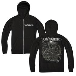 Watchers Circle Black Zip-Up Sweatshirt