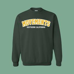 College Forest Green Crewneck Small