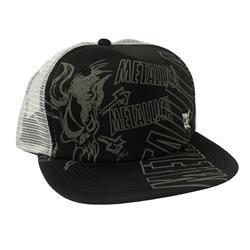 Scary Black Trucker Cap