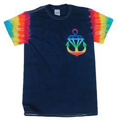 Rainbow Anchor Rainbow Sleeve Tie Dyed