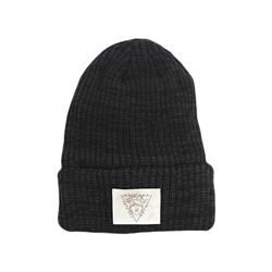 Crown Black Woven Beanie