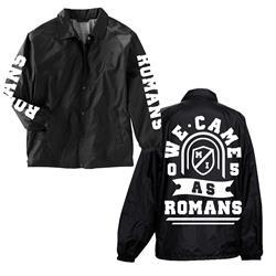 ROMANS Black Windbreaker