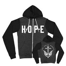 Hope Black/Charcoal Zip-Up *Final Print!*
