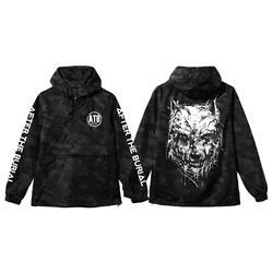 Drip Wolf Black Camo Pullover