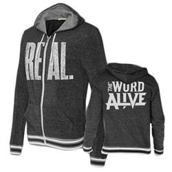 REAL. Eco-Black Zip-Up Sweatshirt