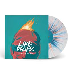 Distant Like You Asked White W/ Blue, Orange And Oxblood Splatter