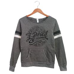 Cursive Logo Heather Grey Ladies Crewneck