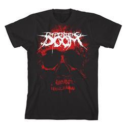Impending Doom - Giant Red Skull Black
