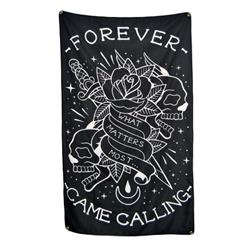 What Matters Most Black Wall Flag