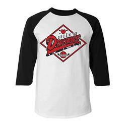 Homebound White/Black Baseball Tee