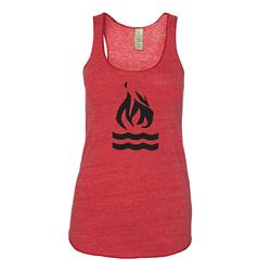 Flame Eco-Red Ladies Racerback Tank